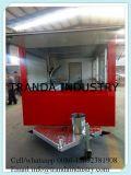 Il tipo rotondo hot dog del rimorchio professionale di disegno 2008 & l'alimento delle automobili del caffè automatico fanno funzionare il rimorchio dell'alimento con acqua
