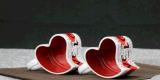 Tasse de café en céramique faite sur commande de la Chine de cuvette de thé d'ODM pour le cadeau