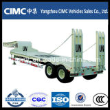 Cimc Low Bed Truck Semi-Trailer für Excavator Trasnsportation