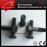 Boulon de vis galvanisé de haute résistance d'hexagone d'acier du carbone de DIN933 DIN931
