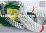 PVCは電流を通されたタイワイヤーか鉄ワイヤーに塗った