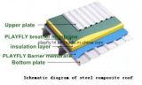 Membrana de impermeabilización compuesta de la barrera de la membrana del alto polímero de Playfly de cuatro colores (F-125)
