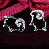 Серег Inlay стерлингового серебра женщин милые 925 кристаллический Овц-Форменный