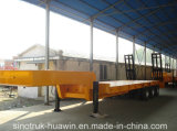 O reboque de serviço público de Sinotruk Huawin 3-Axle/aloja baixo Semi o reboque