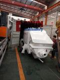 Bomba elétrica de concreto de motor com recipiente de montagem de encanamento de aço de 100 m para exportação da China