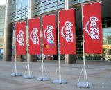 Rettangolo esterno su ordinazione di alta qualità che fa pubblicità alla bandiera della bandierina con Palo