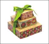 Cubo de papel de la nota de la pirámide con la cinta para la promoción