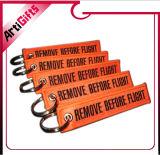 Kundenspezifische Form-Hilfsstickerei Keycha