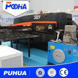 Máquina hidráulica da imprensa de perfurador da torreta do CNC da movimentação para o painel de aço