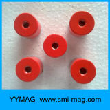 Магнитный агрегат - магниты бака алника красные покрашенные