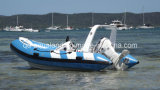 Aqualand 14feet 4.2m Rigid Inflatable Fishing BoatかRib Motor Boat (RIB420B)