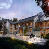 Mehrstöckige Wohngebäude-Entwurfs-Wiedergabe mit erfahrener Arbeit