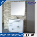 Шкаф ванной комнаты зеркала PVC высокого качества белый с бортовым шкафом