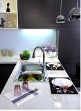 Amarillento melamina de madera del gabinete de cocina (ZS-027)