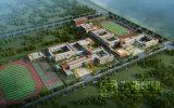 小学校のレイアウトの全眺め3Dのレンダリングの画像