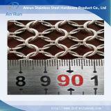 Maglia dell'anello dell'acciaio inossidabile per lo schermo decorativo