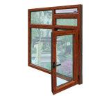 كسر خشبيّة غنيّ بالألوان حراريّ ألومنيوم قطاع جانبيّ شباك نافذة مع تعقّب هويس متعدّد [ك03032]