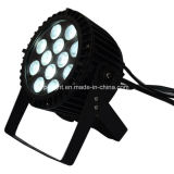 IP68 impermeável ao ar livre 12X10W RGBW LED PAR Stage Light com Slim Die Cast Alumminum Housing