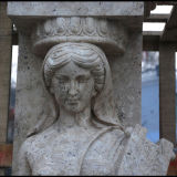 Marmeren Kolom mcol-299 van het Calcium van de Kolom van het Graniet van de Steen Antieke
