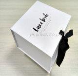 Caja de embalaje personalizada profesional de la botella del logotipo para la invitación de la boda