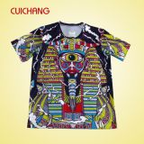 Blanc de T-shirts de sublimation, T-shirt blanc de sublimation, T-shirt sublimé de polyester
