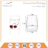 Taza de cristal usada hogar del claro de la taza para el té o el café