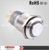 Boucle-Illumination High Momentary Latching Pushbutton Switches de RoHS de la CE de Hban (19mm)