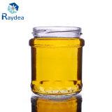 recipiente de alimento redondo do vidro de sílex 200ml