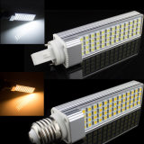 Cover 5050SMDのG24/E27 9W11W12W LED Corn Bulbs Light \ Horizontal Plug Lamp