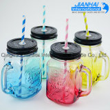Großhandelsqualitäts-buntes Glasmaurer-Glas mit Griff