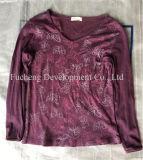 Roupa usada do vestido coreano de Chilffon da forma do estilo para o mercado africano (FCD-002)