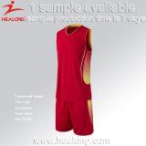 Fazer em linha a suas próprias mulheres do Sublimation o basquetebol Jersey projetar