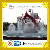 Fontaine de danse de l'eau dans la forme de pissenlit