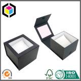 Caixa de papel do presente transparente do cartão do indicador com luva exterior