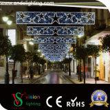Luz de rua da cruz do motivo do Natal do diodo emissor de luz