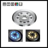 luz subaquática Recessed Inground do diodo emissor de luz de 3X1w 24V RGB