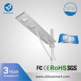 lâmpada de rua solar do diodo emissor de luz da luz ao ar livre do sensor 15-120W solar