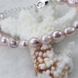 Conjunto de joyas snh real de agua dulce chapado en oro perla