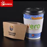 Chaqueta de papel disponible de la taza de café