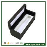 Caixa de presente de madeira preta do perfume de Elegent Clamsell