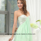 Algodão frisado A - linha vestido Chiffon do baile de finalistas da garganta do querido dos vestidos do baile de finalistas