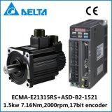 델타 B2 1.5kw 17bit 인코더 AC 자동 귀환 제어 장치 모터와 운전사