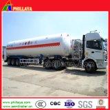 55cbm LNG Sammelbehälter mit 3 dem Wellen-halb Schlussteil-Transport