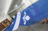 フラグの旗を広告するカスタム高品質のメッシュ生地の熱伝達