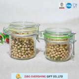 Frasco de vidro do armazenamento da alta qualidade/frasco de vidro superior do grampo