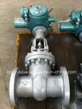 Valvola a saracinesca del acciaio al carbonio del GOST di controllo di motore elettrico Py16 Dn700 (Z941Y-DN700-PY16)
