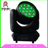 Stage 19 LEDs 12W 4 em 1 RGBW Disco Zoom Moving Head Light