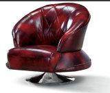 Silla superior moderna del sofá del cuero genuino del grano (C001)