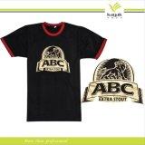 Personalizado em volta do t-shirt da garganta com seu próprio logotipo (R-01)