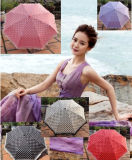 Girls를 위한 5 겹 Printed Lace Board Small Umbrella